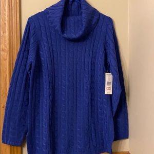 Karen Scott SZ Small Cable Knit Cowl Neck Sweater